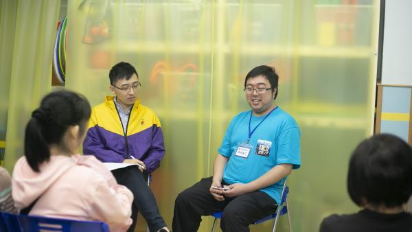 學員在中心開放日的「真人圖書館」分享令聽眾認識更多青年朋友的感受。